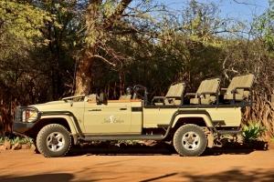 open safari wagen voor fotografie