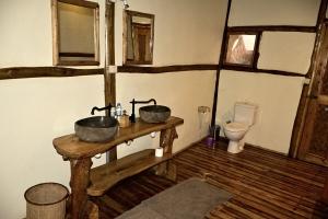 Badkamer lodge Afrika