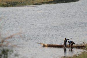 visser in de chobe rivier