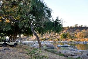 Uitzicht op de Limpopo rivier